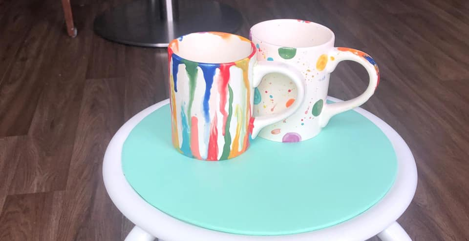 Coffee n Clay Decorated Mugs